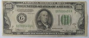 1934 A SERIES $100 ONE HUNDRED FEDERAL RESERVE BANK OF CHICAGO
