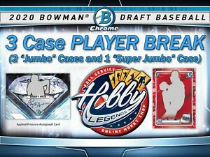 Zavier Warren BREWERS 2020 Bowman Draft 3 Case (2Jumbo/1SJ) PLAYER Break