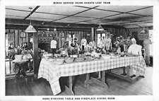 Palo Alto California Dinahs Shack Restaurant Interior Antique Postcard K38333