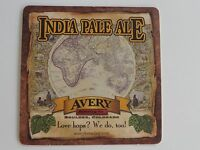 Collectible Beer Coaster ~*~ AVERY Brewing Co India Pale Ale ~ Boulder, COLORADO
