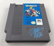 Nintendo (NES) Paperboy AVGN James Rolfe Light Blue Autograph Cart