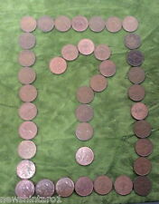 FORTY(40)  AUSTRALIAN  KANGAROO  PENNY COINS FOR CRAFT WORK, ETC