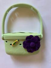 jibbitz crocs Girls Purse Green Flower Excellent Condition