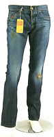 Jeans Uomo Pantaloni ENERGIE B675 5 Tasche Gamba Dritta Blu Tg 33 veste grande
