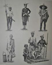 Originaldrucke (1800-1899) mit Mode- & Trachten-Motiv und Lithographie-Technik