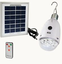Solar Bulb LED Lamp Emergency Light Globe w/Panel and Remote