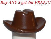 ☀️NEW Lego City Boy/Girl Minifig Hat Classic Brown Cowboy Cowgirl Riders Cap