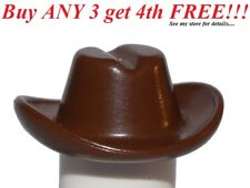 ☀️NEW Lego City Boy/Girl Minifig Hat Classic Brown Cowboy Cowgirl Riders Cap