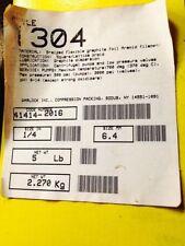"GARLOCK 1304 1/4"" BRAIDED FLEXIBLE GRAPHITE FOIL ARAMID FILAMENT,41414-2016 NEW"