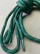 Forest Green w Gray Round Shoe Bootlaces 72 Inch 8-9 Eyelet Hiking Work Boot