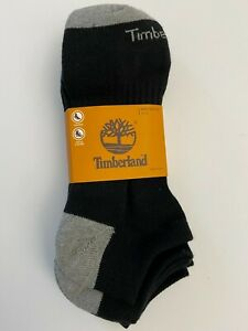 Timberland Men's Cushioned No-Show Socks - Black/Gray - NWT - 9 - 13