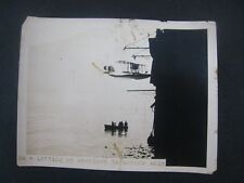 Original   WWI Photo .... Lifting up seaplane