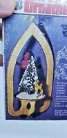 Arrow Deer Red Bird Hand Painted Vintage Wood Christmas Ornament Craft Kit NOS