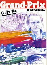 GRAND PRIX INTERNATIONAL n°58 BILAN F1 1982