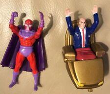 1994 X-Men ToyBiz Steel Mutants Magneto And Professor X Figures Loose