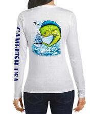 Women UPF 50 Long Sleeve Microfiber Performance Fishing Shirt Mahi