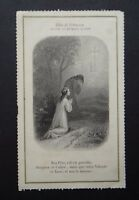 CANIVET LETAILLE Les 2 montagnes image Pieuse HOLY CARD 19thC Santino