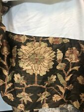 Ralph Lauren King Bed Skirt Tapestry Brown Floral Vine Palampore Split corner