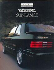 1993 Plymouth Duster Sundance Sales Brochure - Mint
