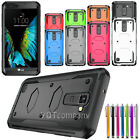 For LG Stylo 2 /2 Plus Shockproof Impact Hybrid Armor Rubber Rugged Case Cover