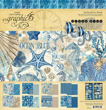 "Graphic 45 Ocean Blue Collection Pack 12 x 12""   Pad and Stickers"