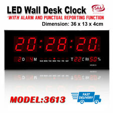 Digital Home Large Big Jumbo LED Wall Desk Clock With Calendar Temperature
