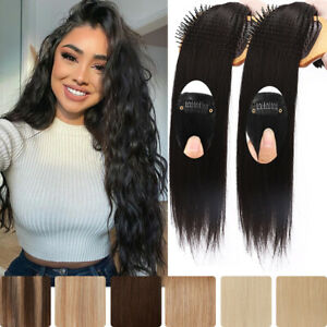 THICK Clip in HUMAN Hair Extensions Seamless Double Weft Straight 8 Pcs 18 Clips