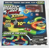 Magic Tracks Xtreme Glow In The Dark Bendable 200 Piece Race Track Age 3+ Gift!
