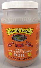 Cajun Land Complete Crab Shrimp Crawfish Boil Seasoning ~ Large 4 lb Jar