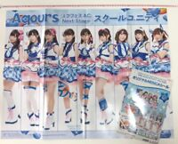 Rare Young GANGAN Vol 24 14th anniversary Aqours big poster & seal love live