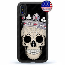For iPhone 11 Pro Max Xs XR 8 Plus 7 4 Reaper Skull Death Case Shockproof Cover