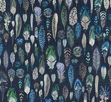 Designers Guild Fabric Pluma tejido de terciopelo Cobalto-FDG2753/01 1.6m