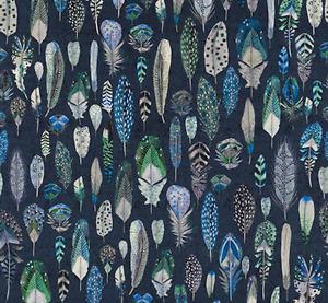 .Designers Guild Fabric QUILL VELVET COBALT FABRIC  - FDG2753/01