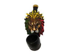 Rasta Scar Lion Handmade Tobacco Smoking Mini Hand Pipe Reggae Mane Animal King