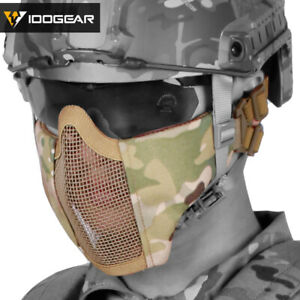 IDOGEAR Airsoft Mask Paintball Mask Mesh Half Face Mask Tactical Gear Paintball