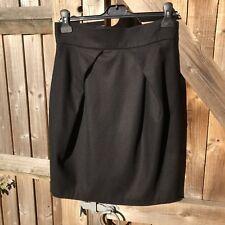 Great Plains Black Wool Mix Tulip Style Pencil Skirt Size 10 VGC Smart Work