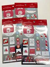 4 packs (200) of xmas glitter gift tags presents wrapping swap peel stick #4