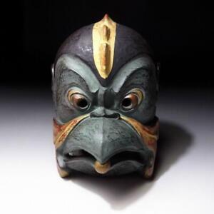 $YF43: Vintage Japanese Noh & Kagura Mask, Karasu Tengu, KOROBASE