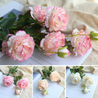 Artificial Fake Peony Rose Silk Flower Wedding Bouquet Floral Party Home Decor