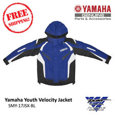 Yamaha Youth Velocity Snowmobile Jacket Blue Sizes 4 8 10 12 14 16 Smy-17Jsx-Bl