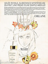 PUBLICITE ADVERTISING 075  1966  ORLANE  cosmétiques  GELEE ROYALE