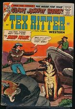 TEX RITTER WESTERN No 46 1959 Charlton Comic Book LAST ISSUE 1.8 GD-