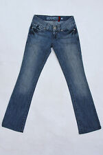 "GUESS JEANS ""DAREDEVIL"" low bootcut medium wash Denim Stretch SZ 23 UK 6 Super"