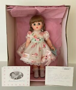 """Madame Alexander 15"""" White Floral Party Kelly Doll Original Box and Tags"""