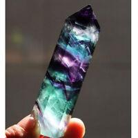 Mehrfarbig Natürlich Fluorit Quarz Stein Mineral Kristall Point Healing 100g