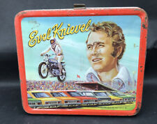 Vintage 1974 Aladdin EVEL KNIEVEL Lunchbox - Snake River - WITH THERMOS