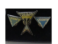 VINTAGE lot of 3 TRIUMPH ALLIED FORCES lapel pin - ROCK BAND licensed 1980,1981