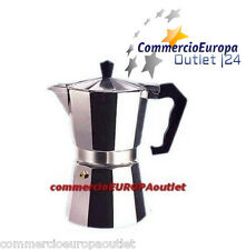 CAFFETTIERA MOKA DA 1 -  2 TAZZE CLASSICA COFFEE CAFÉ CAFFE' ALLUMINIO STOCK