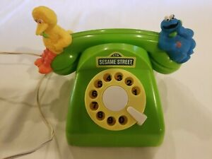 vintage Sesame Street Intercom toy telephone 1988 Ideal phone Big Bird WORKS