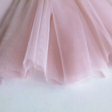 Pastel Light Baby Pink Soft Tulle Veiling Fabric 150cm wide - by the metre